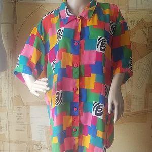 VTG Colorful Blouse